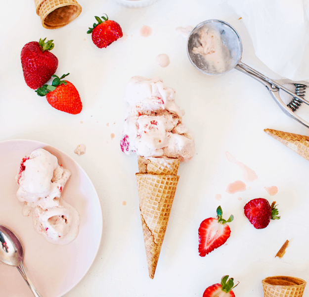 The Best No Churn Strawberry Ice Cream | no churn ice cream recipes, homemade ice cream recipes, how to make no churn ice cream, how to make homemade ice cream, homemade strawberry ice cream, strawberry ice cream recipes, easy ice cream recipes || The Butter Half via @thebutterhalf