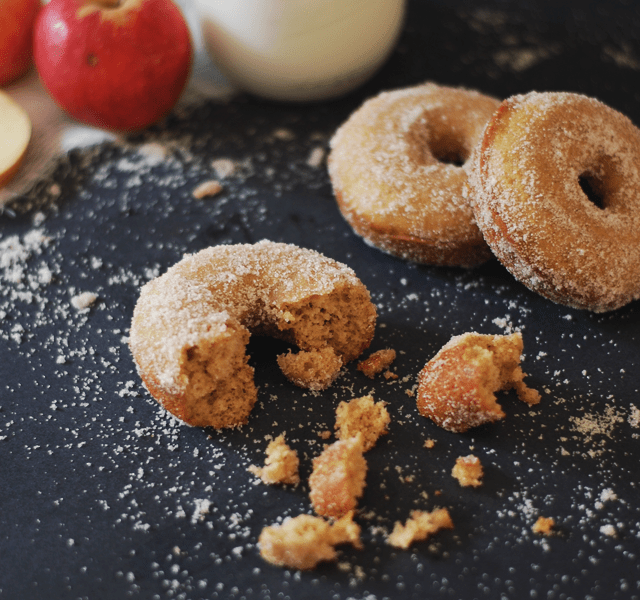 Baked Apple Cider Donuts | homemade donut recipes, fall themed donut recipes, fall donut recipes, fall dessert recipes, dessert recipes for fall, apple flavored donuts, how to make homemade donuts, easy donut recipes, recipes using apple cider || The Butter Half via @thebutterhalf