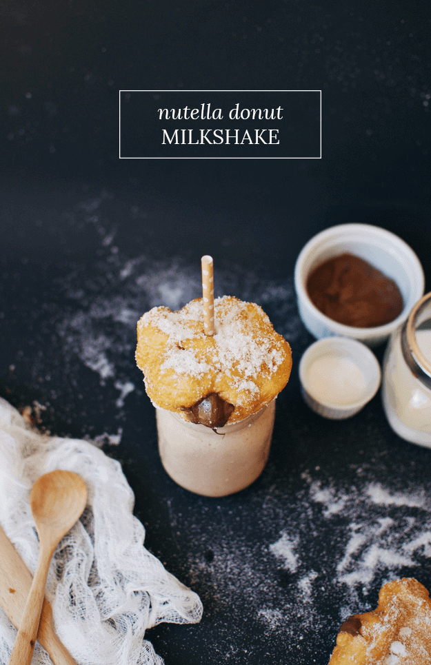 The Nutella Donut Milkshake | The Butter Half