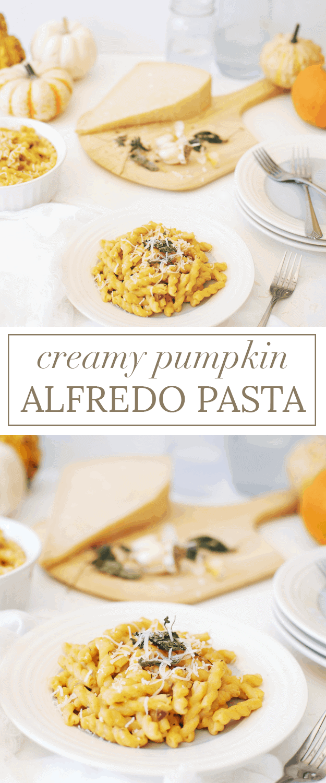 Creamy Pumpkin Alfredo Pasta | The Butter Half