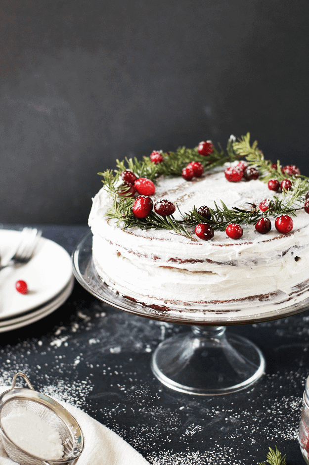 Christmas Dessert Recipes.Salted Caramel Gingerbread Cake With Orange Buttercream