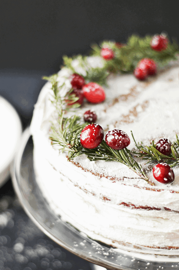 Salted Caramel Gingerbread Cake With Orange Buttercream   christmas desserts, christmas cakes, gingerbread recipes, gingerbread cake recipes, homemade christmas desserts, cake recipes for christmas, holiday dessert recipes    The Butter Half via @thebutterhalf #christmascake #christmasdessert #holidayrecipes