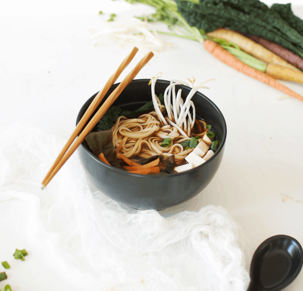 Barley Miso Udon Noodle Soup Recipe | homemade soup recipes, noodle soup recipes, healthy soup recipes, cool weather recipes, soup recipes for fall, asian inspired soups, easy soup recipes, dinner recipe ideas || The Butter Half via @thebutterhalf