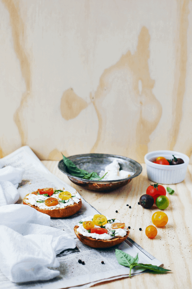 Caprese Bagel With Burrata | The Butter Half