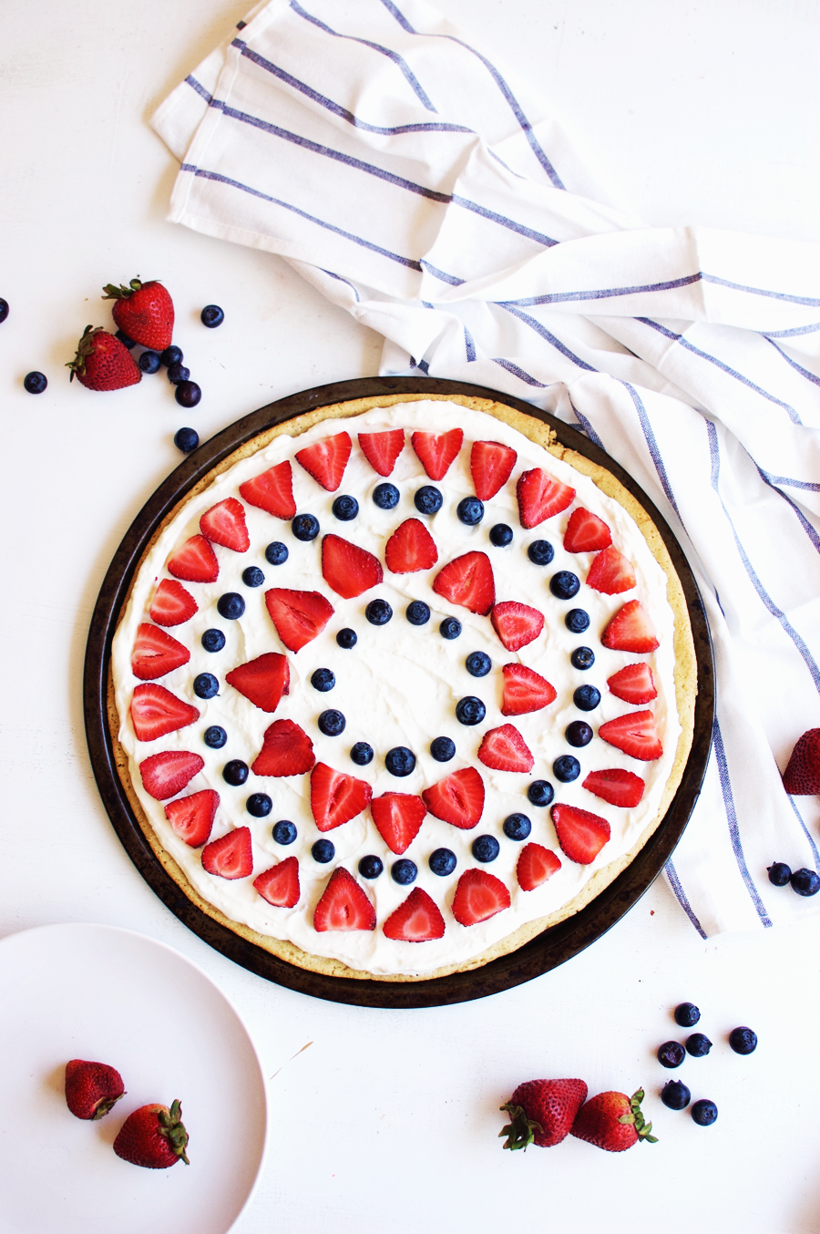 Fourth of July Berry Dessert Pizza