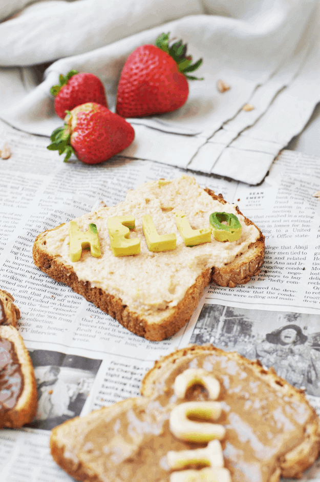 How to Make Fun Conversation Toast! via The Butter Half