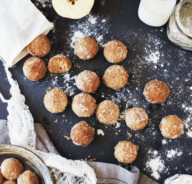 How to Make Baked Apple Cider Donut Holes | The Butter Half