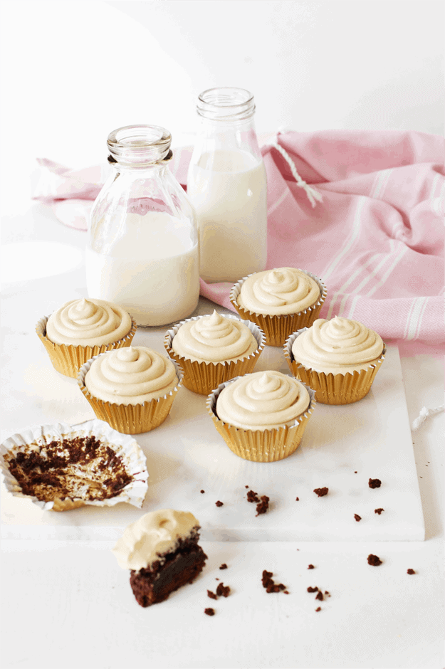 Chocolate Cupcakes with Peanut Butter Frosting | The Butter Half