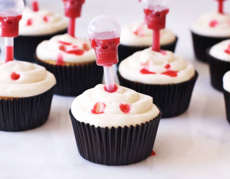 Vampire Bite Cupcakes with Edible Blood | The Butter Half
