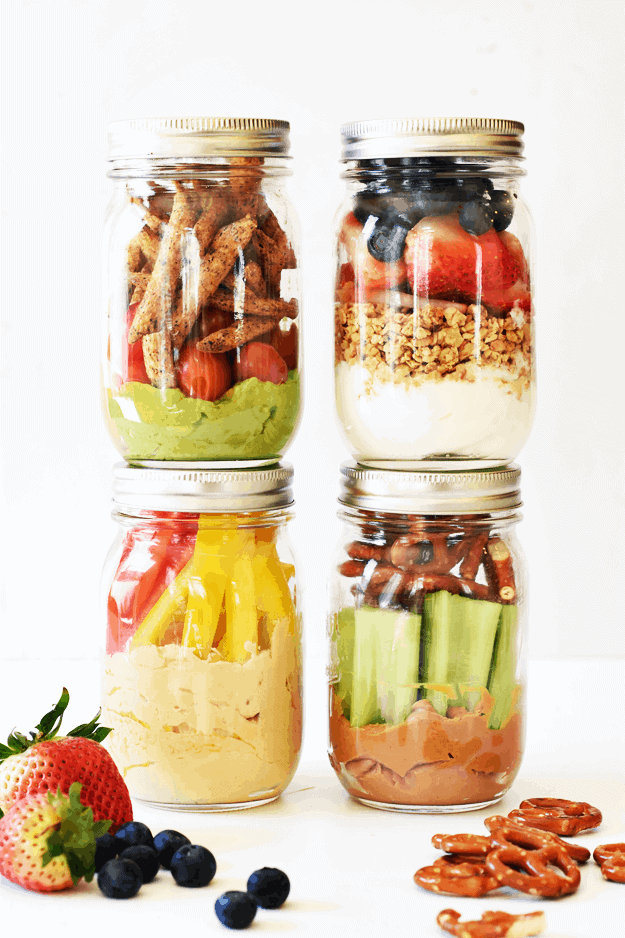 4 Healthy Grab-and-Go Snack Jars | The Butter Half
