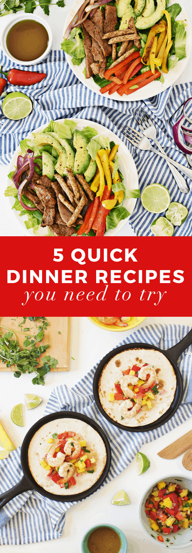 5 Quick Dinner Recipes You Need To Try | The Butter Half