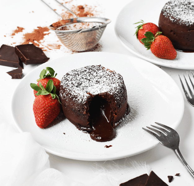 Molten Chocolate Lava Cakes for Two | The Butter Half