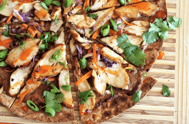 Thai Grilled Chicken Pizza | The Butter Half