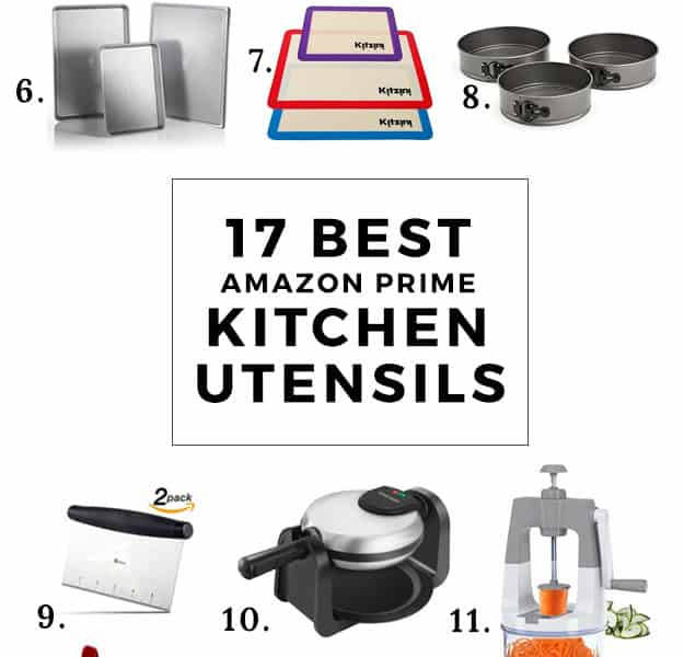 17 Best Amazon Prime Kitchen Utensils and Equipment | cooking and baking tips, kitchen tools, kitchen utensils, best kitchen tools, amazon prime kitchen essentials, kitchen essentials, must have kitchen utensils, kitchen hacks || The Butter Half via @thebutterhalf