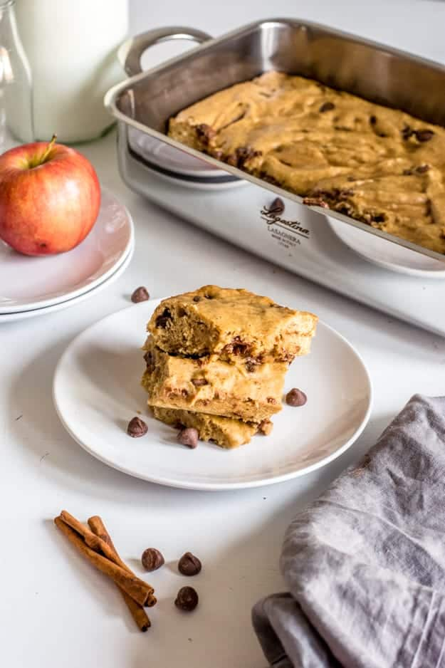 Easy Apple Spice Cake with Chocolate Chips (Dairy-Free + No Refined Sugar!) | apple dessert recipes, fall dessert recipes, homemade dessert recipes, recipes using fresh apples, dessert recipes for fall, dairy free dessert recipes, dairy free sweets, dessert recipes using fresh apples, easy dessert recipes, apple cake recipes || The Butter Half via @thebutterhalf
