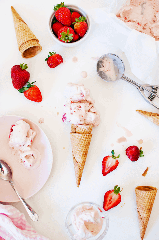The best no churn strawberry ice cream the butter half the best no churn strawberry ice cream no churn ice cream recipes homemade ice ccuart Images