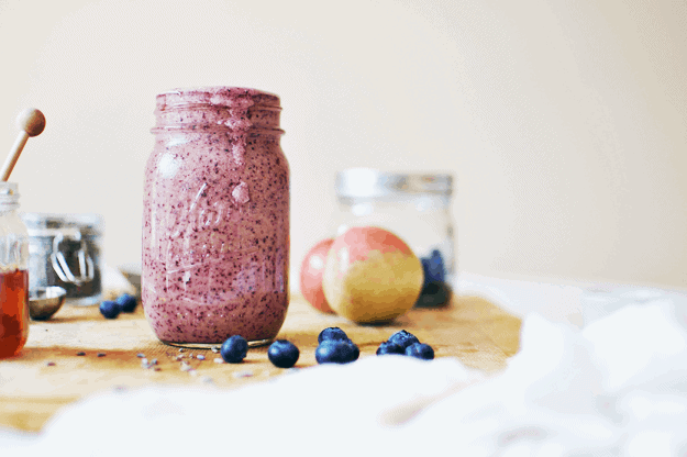Lavender Blueberry Smoothie | homemade smoothie recipes, smoothie recipe ideas, healthy smoothie recipes, fruit smoothie recipes, blueberry smoothie recipes, how to make a smoothie, smoothie recipe ideas || The Butter Half #smoothierecipes #smoothierecipeideas #healthysmoothies #blueberrysmoothie #fruitsmoothie #thebutterhalf