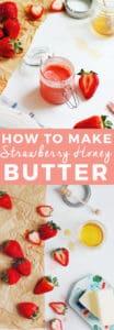 Strawberry Honey Butter | fresh strawberry recipes, fresh butter recipes, fruit butter recipes, strawberry flavored butter, how to make flavored butters, flavored butter recipes, recipes using fresh strawberries, unique butter recipes || The Butter Half via @thebutterhalf via @thebutterhalf