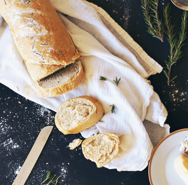 Rosemary French Bread | homemade bread recipes, homemade French bread recipes, how to make French bread, easy bread recipes, rosemary bread recipes, recipes using fresh rosemary, bread recipes French || The Butter Half via @thebutterhalf