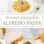 Creamy Pumpkin Alfredo Pasta | savory pumpkin recipes, fall dinner recipes, pumpkin dinner recipes, homemade alfredo recipes, homemade pasta recipes, pumpkin inspired recipes, fall inspired recipes || The Butter Half via @thebutterhalf