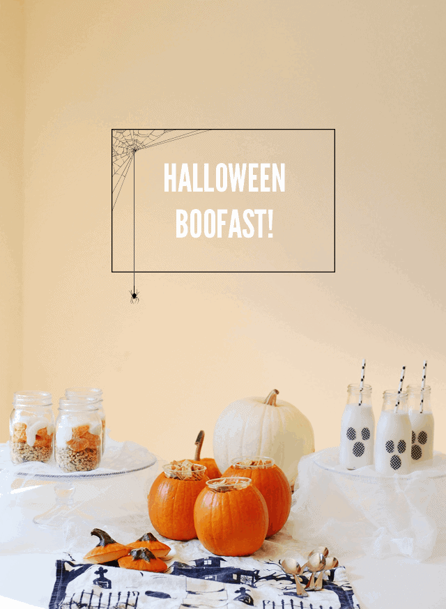 This spooky Halloween Boo-Fest will start your day out right. Easy, quick, and healthy, it's a great addition to your Halloween traditions!|| The Butter Half #halloweenbreakfast #kidbreakfastideas #funbreakfastideas #thebutterhalf