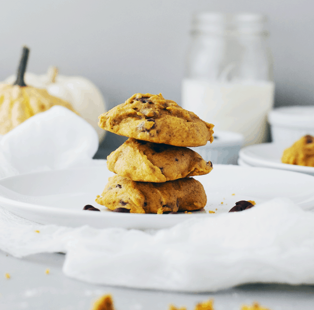 The Best Pumpkin Chocolate Chip Cookie Recipe | pumpkin flavored recipe ideas, homemade chocolate chip cookie recipes, recipe ideas for fall, fall themed dessert recipes, fall inspired recipes, pumpkin flavored cookie recipes, how to make homemade cookies, easy cookie recipes, pumpkin flavored desserts, #pumpkincookies || The Butter Half via @thebutterhalf