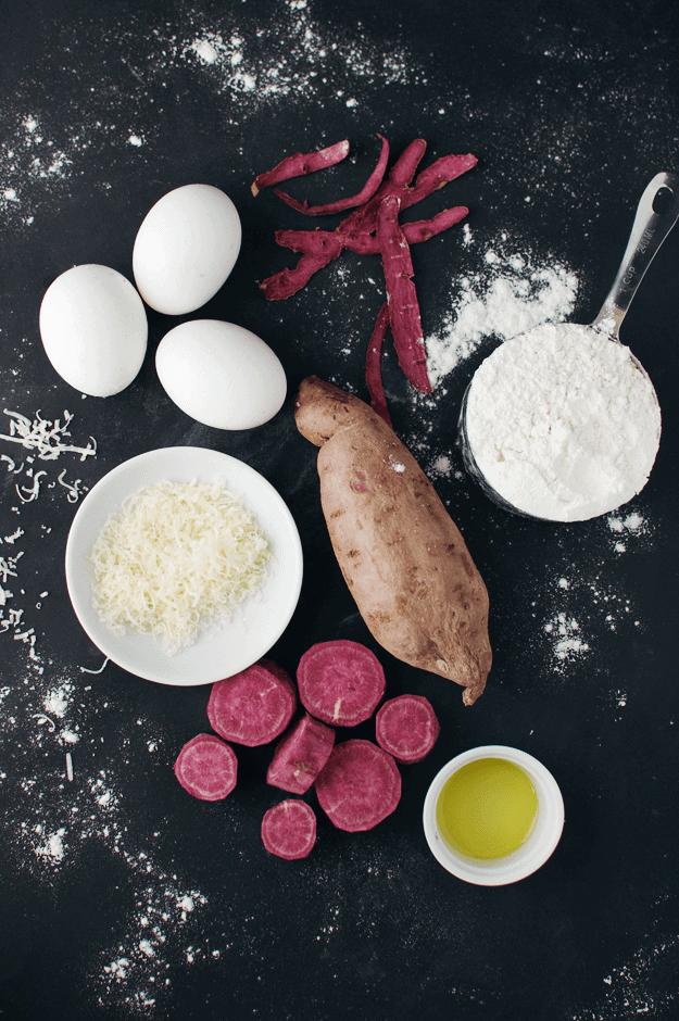 Purple Sweet Potato Ravioli In Brown Butter Garlic Sauce   sweet potato pasta recipe, homemade ravioli, easy brown butter sauce, easy ravioli recipes, easy pasta recipes    The Butter Half via @thebutterhalf #purplesweetpotato #raviolirecipe #brownbuttersauce