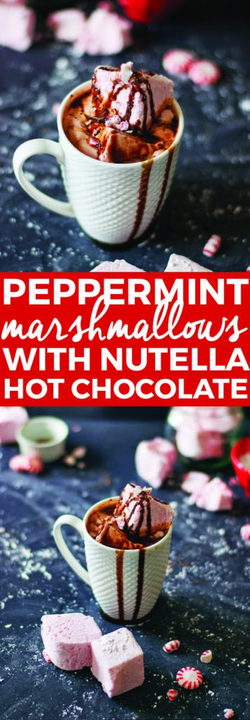 Peppermint Marshmallows With Healthy Hot Chocolate | peppermint inspired recipes, homemade marshmallow recipes, how to make homemade marshmallows, holiday recipes, peppermint recipes, homemade hot chocolate || The Butter Half via @thebutterhalf #peppermint #marshmallows #holidayrecipes