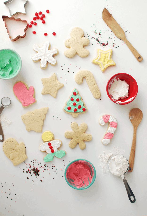 These Best Cut-Out Sugar Cookie Recipe will become your new go-to gluten-free holiday sugar cookie recipe. || The Butter Half #christmascookies #sugarcookies #christmastreats #thebutterhalf