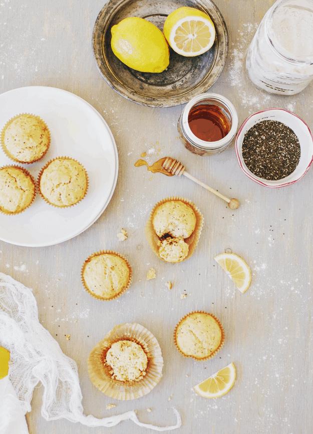 Honey Lemon Chia Seed Muffins | homemade muffin recipes, healthy muffin recipes, easy muffin recipes, chia seed recipe ideas, breakfast recipes || The Butter Half via @thebutterhalf #muffinrecipe #easybreakfast #chiaseedmuffins