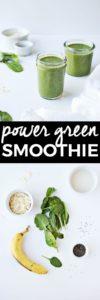 Favorite Power Green Smoothie Recipe | green smoothie recipes, healthy smoothie recipes, how to make a green smoothie, homemade green smoothie recipes, easy smoothie recipes, smoothie recipes green || The Butter Half via @thebutterhalf