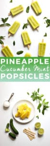 Pineapple Cucumber Mint Margarita Popsicles | The Butter Half