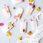 Lemon Lime Flower Popsicles | popsicle recipes | cold dessert recipes | homemade popsicle recipes | how to make popsicles | popsicle recipe ideas | dessert recipe ideas for summer | ice cream recipes | homemade summer recipes || The Butter Half
