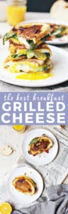 The Best Breakfast Grilled Cheese Sandwich | Make this hearty sandwich for a satisfying morning meal! | savory breakfast recipes | homemade grilled cheese sandwiches | grilled cheese sandwich recipes | breakfast recipe ideas | how to make a grilled cheese sandwich | recipes for breakfast || The Butter Half