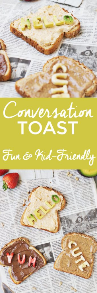 How to Make Fun Conversation Toast | fun breakfast ideas, fun toast recipes, kid friendly breakfast recipes, how to make toast, toast recipe ideas, breakfast ideas for kids, family friendly breakfast ideas || The Butter Half via @thebutterhalf