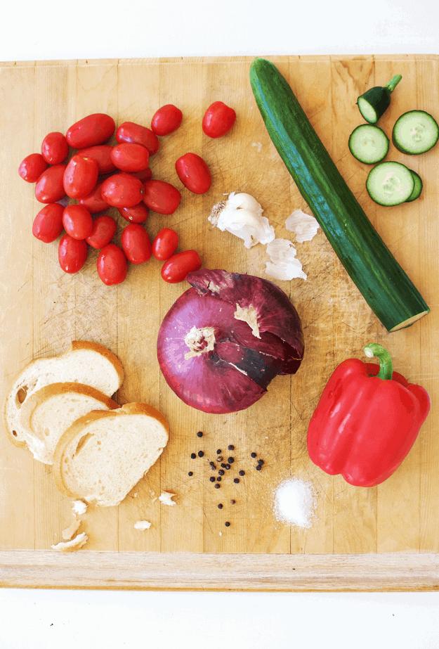 Authentic Spanish Gazpacho | how to make spanish gazpacho, easy gazpacho recipes, cold soup recipes, how to make a cold soup, cold soup recipe ideas, chilled soup recipes, summer soup recipes || The Butter Half #spanishgazpacho #easygazpacho #coldsoup #soup #thebutterhalf