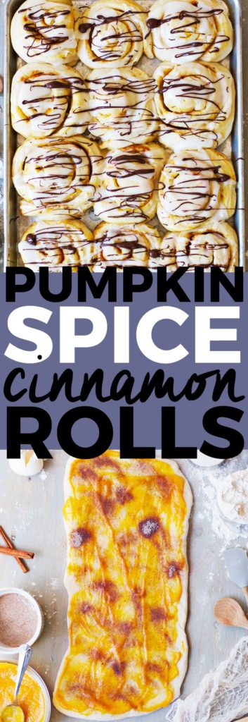 Pumpkin Spice Cinnamon Rolls | pumpkin flavored recipe ideas, homemade cinnamon roll recipes, recipe ideas for fall, fall themed breakfast recipes, fall inspired recipes, pumpkin flavored breakfast recipes, how to make cinnamon rolls, easy cinnamon roll recipes || The Butter Half via @thebutterhalf
