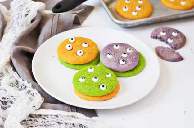 Halloween Sugar Cookie Monsters | halloween cookie recipes, halloween treat ideas, halloween dessert recipes, monster cookie recipes, homemade halloween treats, cookie recipes for halloween, halloween treat recipes, easy halloween recipes, kid-friendly halloween recipes || The Butter Half via @thebutterhalf
