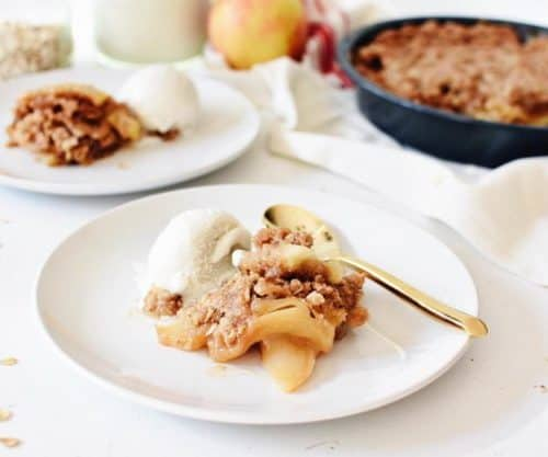 How to Make Apple Crisp with a Cake Mix | homemade apple crisp recipe, easy apple crisp recipe, cake mix recipe ideas, how to make an apple crisp, fall dessert recipes, apple dessert recipes, dessert recipes using apples, homemade fall desserts || The Butter Half via @thebutterhalf