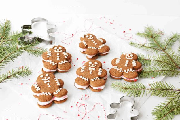 Soft Gingerbread Man Cookies + Ice Cream Sandwiches (Gluten Free)  gingerbread cookie recipes, homemade gingerbread men, holiday cookie recipes, christmas cookie recipes, ice cream sandwich recipes    The Butter Half via @thebutterhalf #gingerbreadcookie #holidaycookies #christmascookies