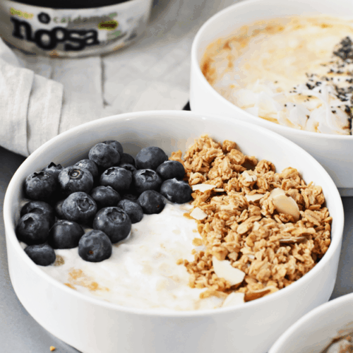 3-Ingredient Yogurt Breakfast Bowls 3 Ways | @thebutterhalf