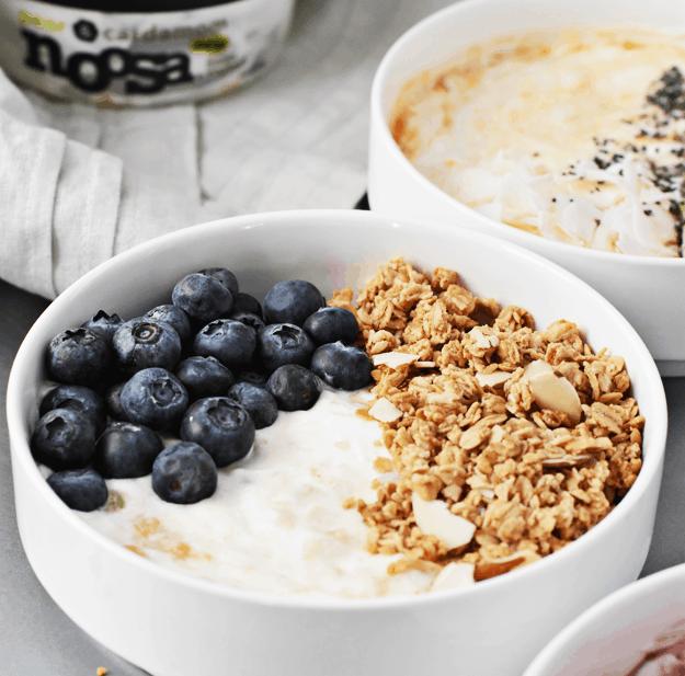 3-Ingredient Yogurt Breakfast Bowls 3 Ways | @thebutterhalf