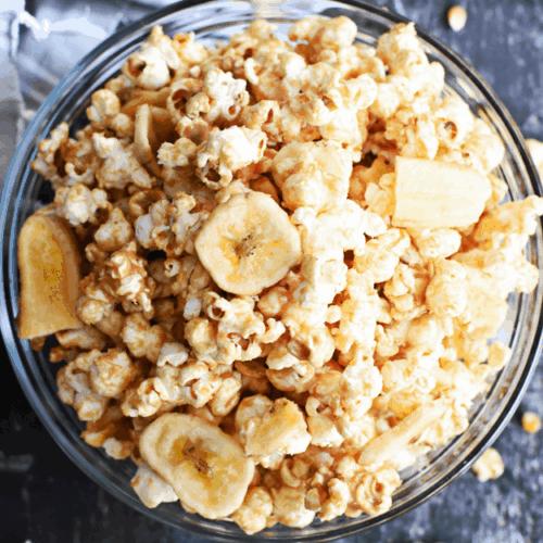 Healthy Peanut Butter Banana Popcorn | The Butter Half