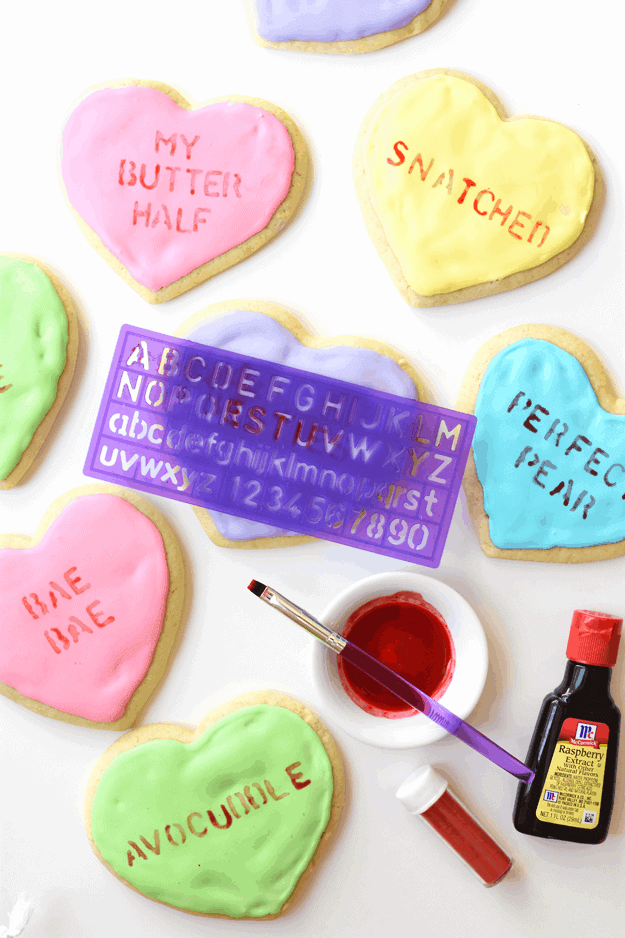 How to Make Conversation Heart Cookies | Valentine's Day cookie recipes, Valentine's Day recipes, Valentine's Day desserts, homemade cookie recipes, conversation hearts dessert, fun Valentine's Day recipes || The Butter Half #conversationhearts #valentinesdaycookies #valentinesdayrecipes