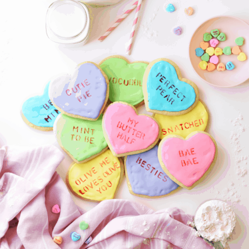 How to Make Conversation Heart Cookies | The Butter Half