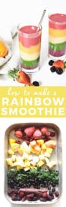 How to Make a Rainbow Smoothie | The Butter Half