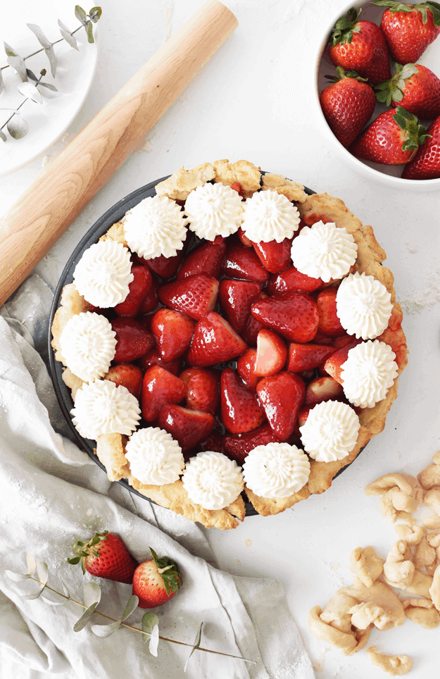 The Best Homemade Fresh Strawberry Pie