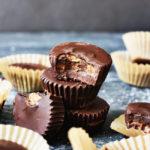 Vegan Dark Chocolate Almond Butter Cups | The Butter Half