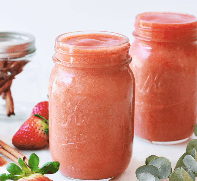 Metabolism-Boosting Strawberry Mango Smoothie | The Butter Half