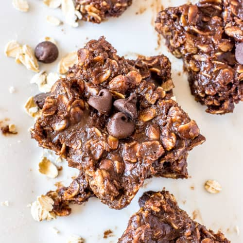 Easy No Bake Cookies with Chocolate Chips and Peanut Butter   no bake recipes, no bake desserts, easy no bake recipes, how to make no bake cookies, le creuset, le creuset crock, le creuset giveaway   The Butter Half